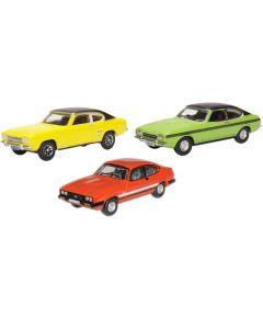 Oxford Diecast Ford Capri Set Three Piece Set 76SET69