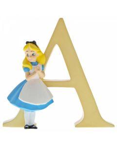 "Alphabet Letter ""A"" Alice in Wonderland A29546 by Disney Enesco"