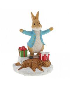 Beatrix Potter Peter Rabbit With Presents Figurine Enesco A29928