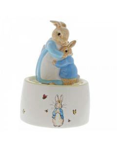 Beatrix Potter Mrs Rabbit and Peter Ceramic Musical Piece Enesco A30003