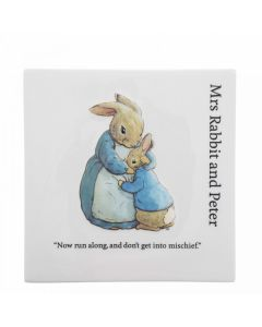 Beatrix Potter Mrs Rabbit and Peter Decorative Wall Plaque Enesco  A30196