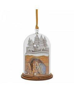 Mrs. Rabbit in Burrow Wooden Hanging Ornament by Enesco A30460