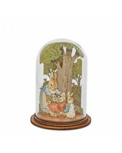 Mrs. Rabbit with Flopsy, Mopsy, Cotton Tail and Peter Wooden by Enesco A30461