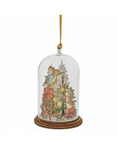 Peter and Benjamin Bunny Christmas Wooden Hanging Ornament by Enesco A30462