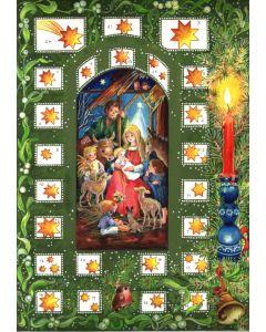 44 Nativity Scene Traditional A4 Advent Calendar by Richard Sellmer