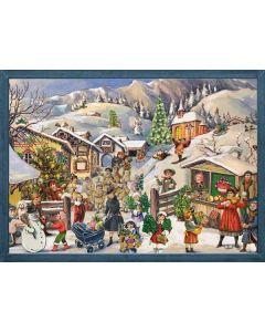 Richard Sellmer Advent Calendar A Mountain Village in Snow 70105