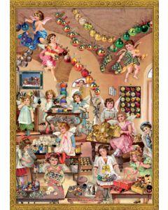 Richard Sellmer Advent Calendar Decorating Angels 793