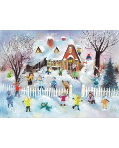 794 Snowball Fight Advent Calendar by Richard Sellmer