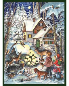 805 Winter with the Animals Traditional A4 Advent Calendar by Richard Sellmer