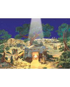 865 Stable of Bethlehem Traditional A4 Advent Calendar by Richard Sellmer