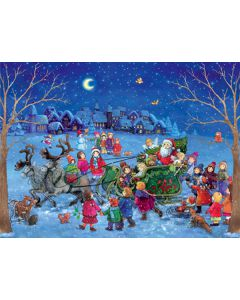 98 Sleighing with Santa Traditional A4 Advent Calendar by Richard Sellmer