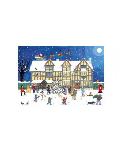 Alison Gardiner Christmas at the Old Town House Advent Calendar Card ACC5