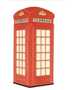 Red Telephone Box Fridge Magnet by Elgate 13092