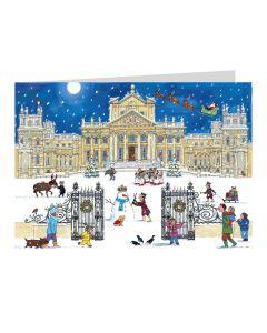 Alison Gardiner Advent Calendar Card Blenheim Palace at Christmas ACC6