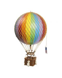 Authentic Models Large Royal Aero Balloon Model Rainbow Coloured 32cm AP163E
