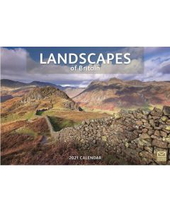 Landscapes of Britain 2021 A4 Calendar by Carousel Calendars 210118