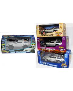 Back to the Future DeLorean Set of 4 cars in individual boxes 1:24 scale Welly