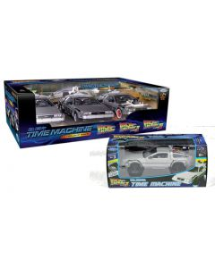 Back to the Future DeLorean 3 piece set & Flying Version Welly 1:24 Scale