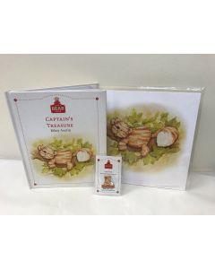 Alice's Bear Shop Captain's Treasure storybook, Art print and lapel badge