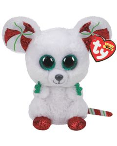 TY Chimney Mouse Christmas Beanie Boo 2020 15cm 36239