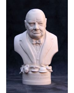 Winston Churchill Plaster Bust 12cm by Modern Souvenirs
