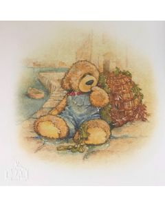 Alice's Bear Shop Illustration of Cobby from the storybook Cobby Goes For a Swim