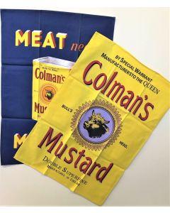 Colman's mustard 2 tea towels Robert Opie Collection TWL2CM01