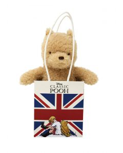 Classic Winnie The Pooh in Union Jack Bag 15cm Rainbow Designs DN1614