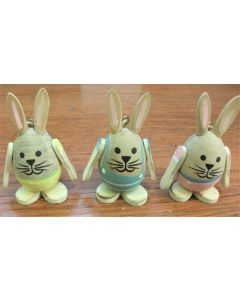Wooden Hanging Bunny Easter Tree Decoration - set of 3 JD287850