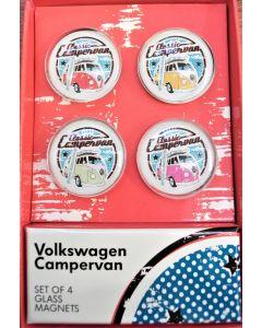 official vw campervan 4 piece glass magnet set-1