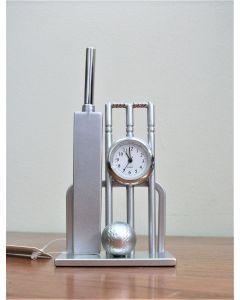 Cricket Stumps Miniature Clock by Shudehill Gifts 0182