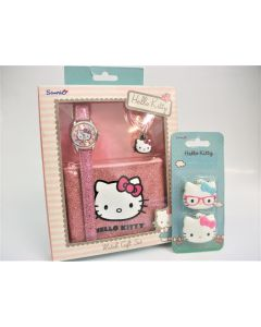 Hello Kitty Watch, coin purse and necklace/phone charm gift set HK001 (free key caps)