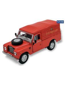 Cararama Land Rover Series 3 109 soft top Fire Brigade 451750