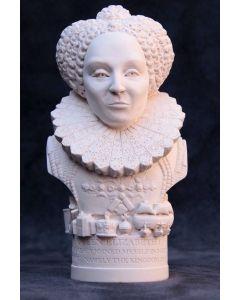 Queen Elizabeth I Plaster Bust 13cm