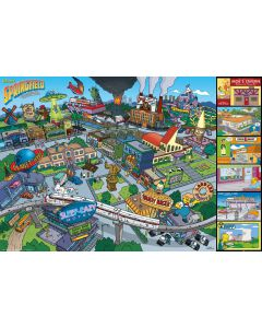 The Simpsons Locations Poster FP3935