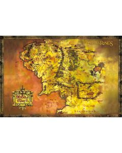 Lord of the Rings Middle Earth Map Poster FP2647