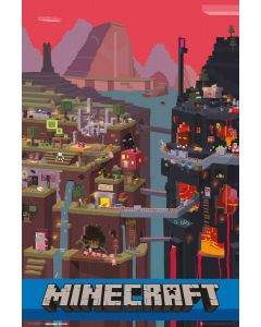 Minecraft World Poster FP2914