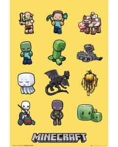 Minecraft Characters Poster FP3288