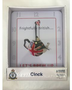 Frightfully British Clock Battery powered LP32718