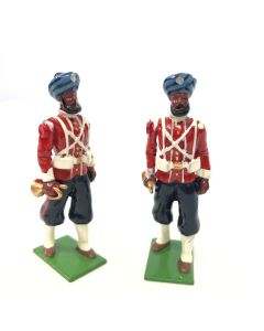 WBritain 2 Buglers 45th Rattray's Sikhs SPECIAL COLLECTORS EDITION   8837