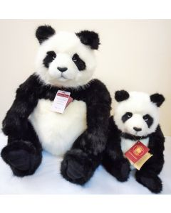 CB17180102 Fenella and Faith Plush Panda Teddy Bears by Charlie Bears
