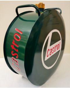 Castrol Petrol Can Aluminium Reproduction Round Petrol Can