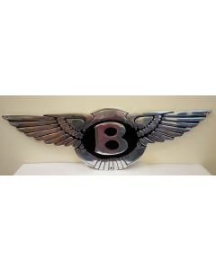 Bentley Wings Aluminium and Painted Reproduction Large Shaped Metal Sign