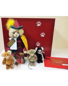 Pied Piper Mohair Teddy Bear and Three Mouse Set by Charlie Bears SJ586061
