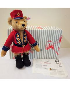 006876 Nutcracker Teddy Bear, Mohair, 32cm by Steiff