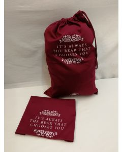 Charlie Bears 'It's Always The Bear That Chooses You' Large Drawstring Gift Bag CBBAGL