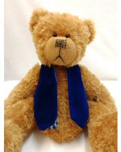 ABSWB Blue Woodroffe Waistcoat from Alice's Bear Shop by Charlie Bears