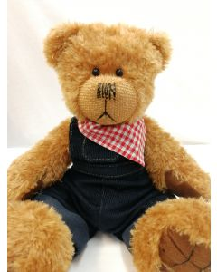 Alice's Bear Shop Clothes - Cobby Blue Dungarees and neckerchief by Charlie Bears ABSCB