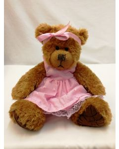 Alice's Bear Shop Clothes - Sandy Pink Dress from by Charlie Bears ABSSP