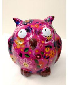 31876 Pomme Pidou Money Bank Zazou the Owl Pink